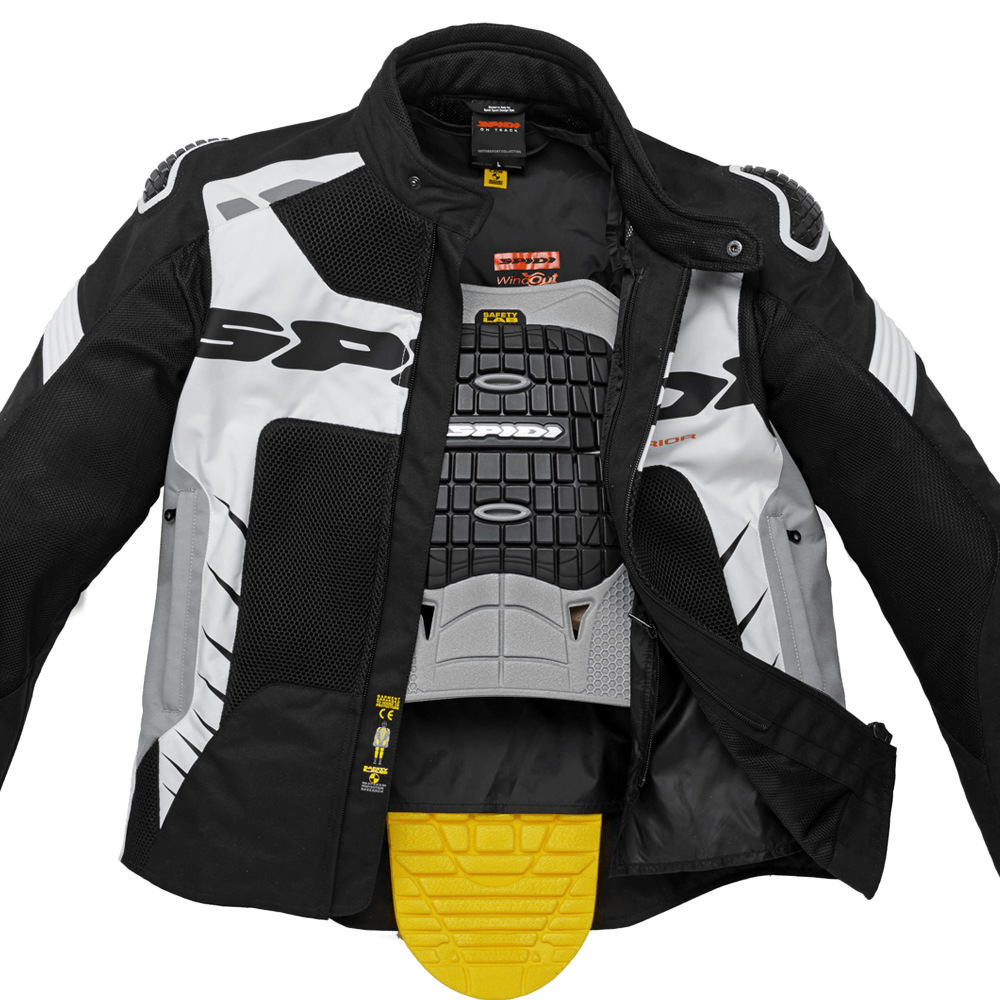SPIDI Black Compact Warrior Motorcycle Back Protector Insert